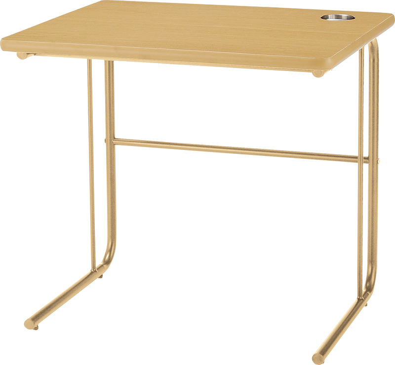 HITECHWOOD【ハイテクウッド】 介護・福祉用テーブル(カップホルダー付) UFT-ST7560 W750xD600xH700mm