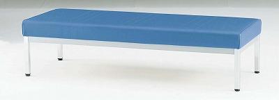 TOKIO【藤沢工業】 ロビーチェア(待合室用長椅子)背無・ビニールレザーりタイプ 3人用 FL-315N W1500xD580xH380mm