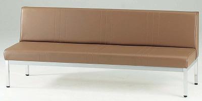 TOKIO【藤沢工業】 ロビーチェア(待合室用長椅子)背付・ビニールレザーりタイプ 4人用 FL-318 W1800xD580xH720mm