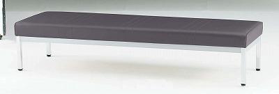 TOKIO【藤沢工業】 ロビーチェア(待合室用長椅子)背無・ビニールレザーりタイプ 4人用 FL-318N W1800xD580xH380mm
