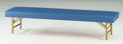 TOKIO【藤沢工業】ロビーチェア(待合室用長椅子)折りたたみ式・背無・ビニールレザーりタイプ 4人用 FL-618 W1800xD460xH390mm