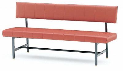 TOKIO【藤沢工業】 ロビーチェア(待合室用長椅子)背付・ビニールレザーりタイプ 3人用 FL-715 W1500xD540xH760mm