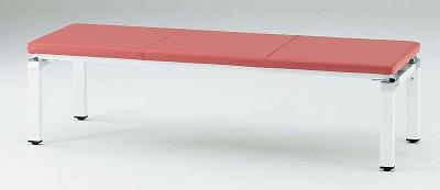 TOKIO【藤沢工業】 ロビーチェア(待合室用長椅子)背無・ビニールレザータイプ 3人用 FLC-1500L W1500xD500xH420mm