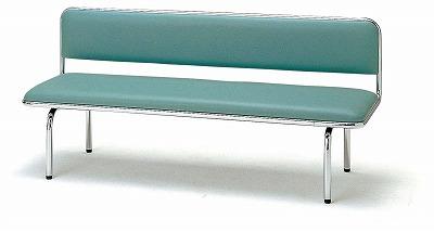 TOKIO【藤沢工業】ロビーチェア(待合室用長椅子)背付・ビニールレザーりタイプ 3人用 FLC-815 W1500xD500xH675mm