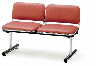 TOKIO【藤沢工業】 ロビーチェア(待合室用長椅子)背付・布張りタイプ 2人用 FTL-2 W1005xD540xH660mm
