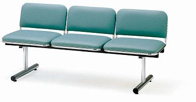 TOKIO【藤沢工業】ロビーチェア(待合室用長椅子)背付・布張りタイプ 3人用 FTL-3 W1510xD540xH660mm
