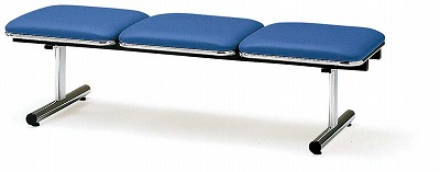 TOKIO【藤沢工業】ロビーチェア(待合室用長椅子)背無・布張りタイプ 3人用 FTL-3N W1510xD500xH410mm