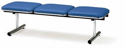 TOKIO【藤沢工業】 ロビーチェア(待合室用長椅子)背無・ビニールレザータイプ 3人用 FTL-3NL W1510xD500xH410mm