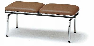 TOKIO【藤沢工業】ロビーチェア(待合室用長椅子)背無・布張りタイプ 2人用 FUL-2N W1510xD500xH410mm