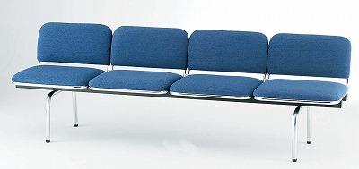 TOKIO【藤沢工業】 ロビーチェア(待合室用長椅子)背付・布張りタイプ 4人用 FUL-4 W2015xD540xH660mm