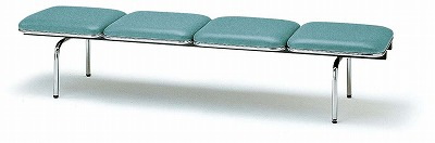 TOKIO【藤沢工業】 ロビーチェア(待合室用長椅子)背無・布張りタイプ 4人用 FUL-4N W2015xD500xH410mm