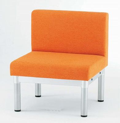 TOKIO【藤沢工業】 ロビーチェア(待合室用長椅子)布張りタイプ LS-1 W600xD600xH700