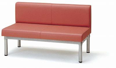 TOKIO【藤沢工業】 ロビーチェア(待合室用長椅子)ビニールレザータイプ LS-2L W1200xD600xH700