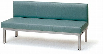 TOKIO【藤沢工業】 ロビーチェア(待合室用長椅子)布張りタイプ LS-2W W1500xD600xH700