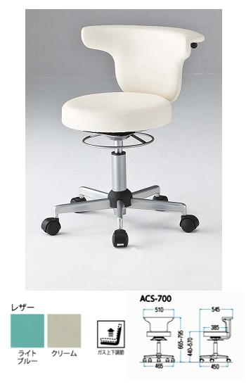 TOKIO【藤沢工業】オフィスチェア 多目的チェア レザータイプ ACS-700