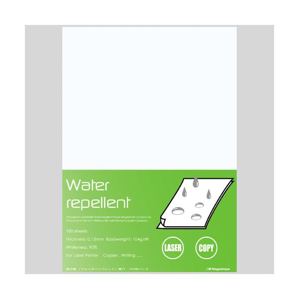 選択 今季も再入荷 雨や水をよく弾く撥水紙 水を弾きます 水回りや屋外の掲示に Nagatoya ナ-WR201 撥水紙 厚口A4 百枚