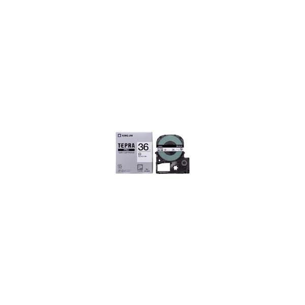 オンラインショッピング テプラ 再入荷 予約販売 用テープカートリッジ キングジム 白ラベル 黒文字 SS36K 36mm