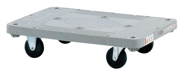 サカエ(SAKAE) 樹脂平車 四輪標準キャスタータイプ キャスター自在2 固定2 MHT-10 W800xD505xH172mm