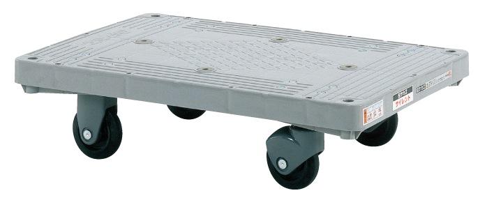 サカエ(SAKAE) 樹脂平車 四輪サイレントキャスタータイプ キャスター自在2 固定2 MHT-20S W800xD505xH225mm