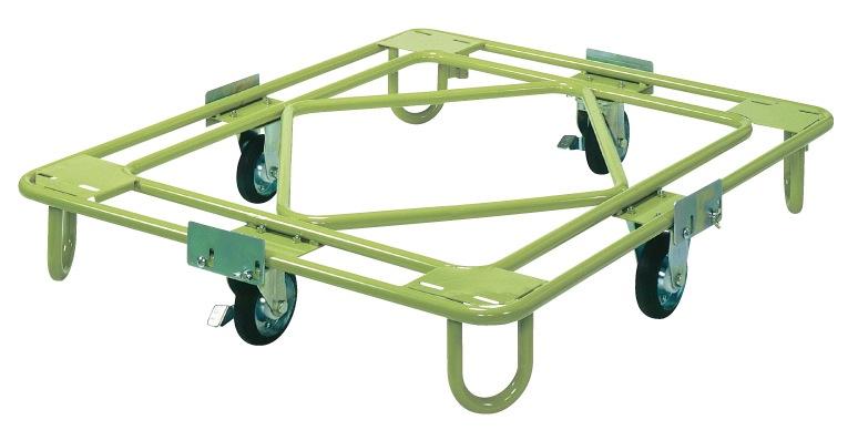 サカエ(SAKAE) 自在移動回転台車 中量型 標準タイプ RB-4G W1110xD1110xH194mm