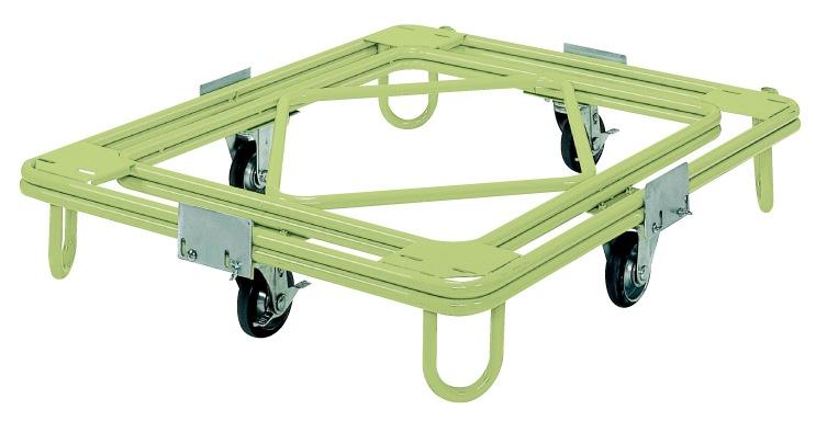 サカエ(SAKAE) 自在移動回転台車 重量型 標準タイプ RC-4G W1110xD1110xH231mm