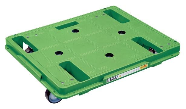 サカエ(SAKAE) 樹脂台車(スタッキング・連結仕様) ナイロンウレタンキャスタータイプ(金具SUS304) キャスター自在4 SCR-650S W600xD480xH109mm