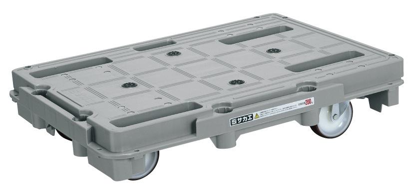 サカエ(SAKAE) 樹脂台車(スタッキング・連結仕様) ナイロンウレタンキャスタータイプ(金具SUS304) キャスター自在4 SCR-800S W720xD520xH150mm