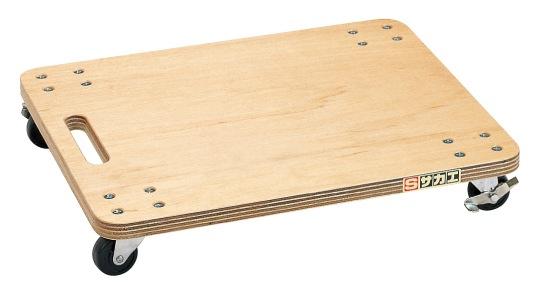 サカエ(SAKAE) 平台車(板台車) スタッキング仕様(ニスタイプ) YM-1N W500xD400xH86mm