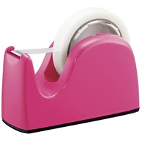 安定感あるボディ かわいいカラーでデスクまわりが華やかに . プラス 送料無料でお届けします テープカッター TC-301 舗 ピンク