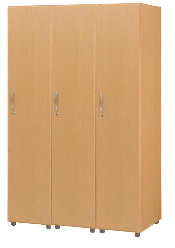 HITECHWOOD【ハイテクウッド】 SOHO用 木製フリージョイントロッカー【1段3列】FJLS-NA ナチュラル W1185xD570xH1860