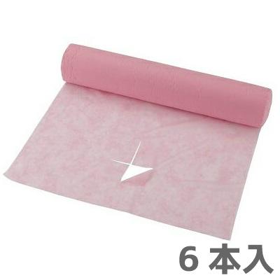 【送料無料】ベッドシーツクロス スリット入り ピンク 90m 6本入り