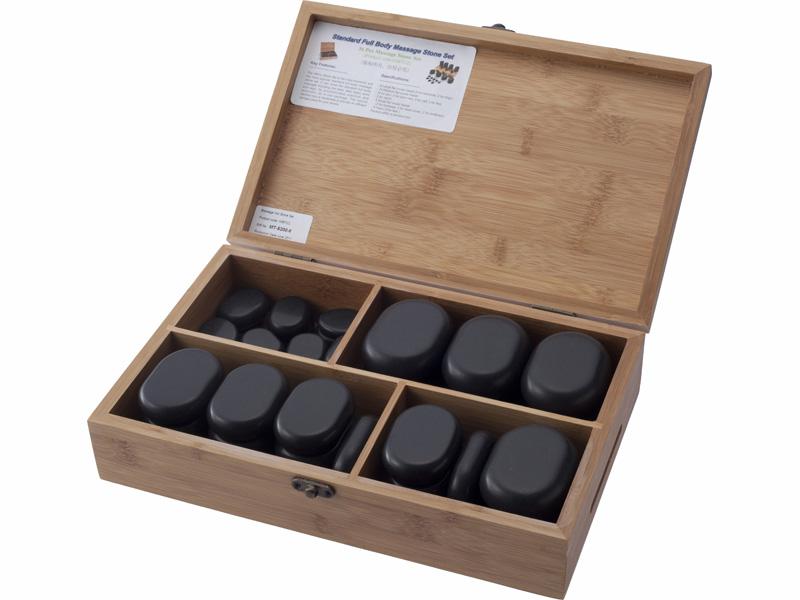 【送料無料】玄武岩ホットストーンセット(36個入)(玄武岩、大理石コールドストーン、チャクラストーン)