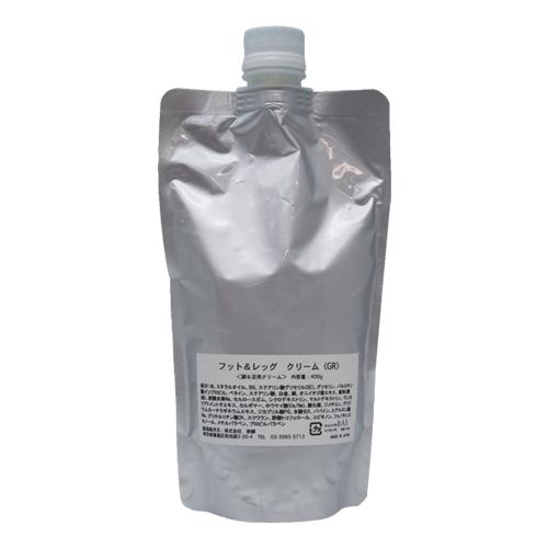 お風呂上がりにオススメ!アロマプロ フット&レッグクリームGR(スパチュラ付) 400g
