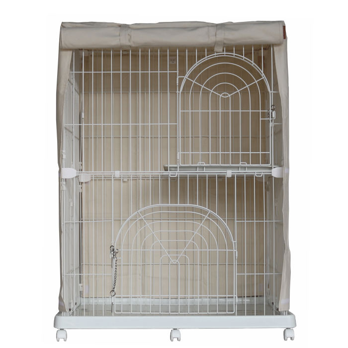 A product made in cage cover Japan for two steps of cages (sewing, 100% of  canvas / cotton) covers here heart / gauge (width 95cmX depth 70cmX 110cm