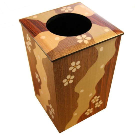木象嵌くず箱 さくら