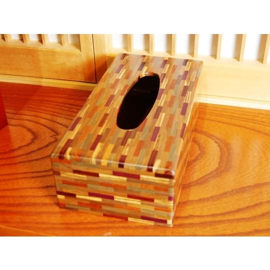寄木無垢ティッシュボックス R 箱根寄木細工 箱根 寄木細工
