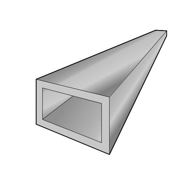 アルインコ 平角パイプ 1本 寸法:70×50×2.0mm/長さ:4000mm シルバー(クリア付) 品番:FB149S アルミ型材,汎用材,ALINCO ※合計1万円以上で送料無料