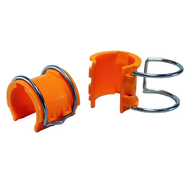 【送料無料 アラオ(ARAO)】アンチクリップ 42.7Φ用。L46mm。オレンジ色。100個。足場板の位置決めに。樹脂のカバーにバネをはめ込む一体式。AR-2477,AR2477, アラオ(ARAO), アヤセシ:cf6e1be0 --- sunward.msk.ru