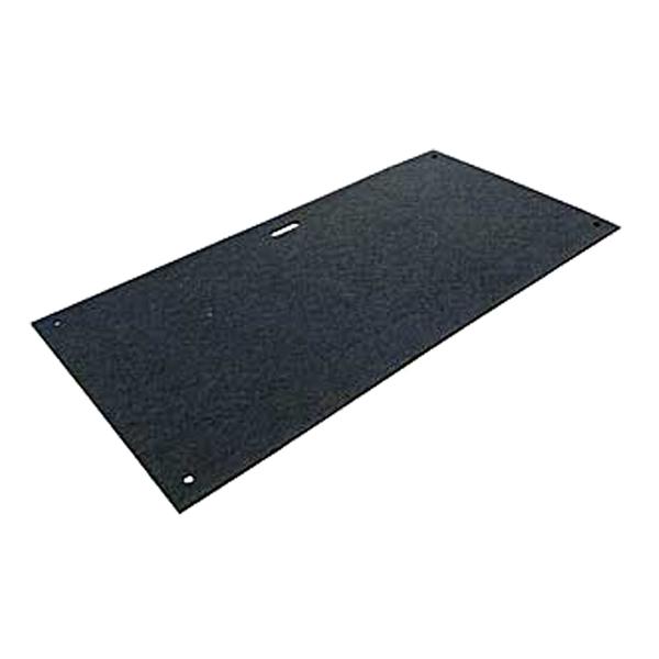 アシストボード(BBボード)(ゴム製敷板)(910×1820)黒色 1枚。(AR-4079)耐荷重約40トン。樹脂製(PE/ゴム)。駐車場,地面養生,屋外,屋内,イベント,建設,建築現場,敷鉄板(リピーボード,パワーボード,BANBAN,バンバン,Wボード )アラオ