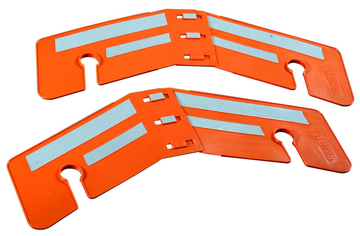 視線ガイドパネル 10枚,830×385×2t,重量500g(AR-1395)視認性の高い高輝度反射シート使用,単管上下間の内寸485~565対応,視線誘導,オレンジ,シェブロン,arao(アラオ), 名刺印刷年賀状なら-印刷の王様-:8a657cbb --- sunward.msk.ru