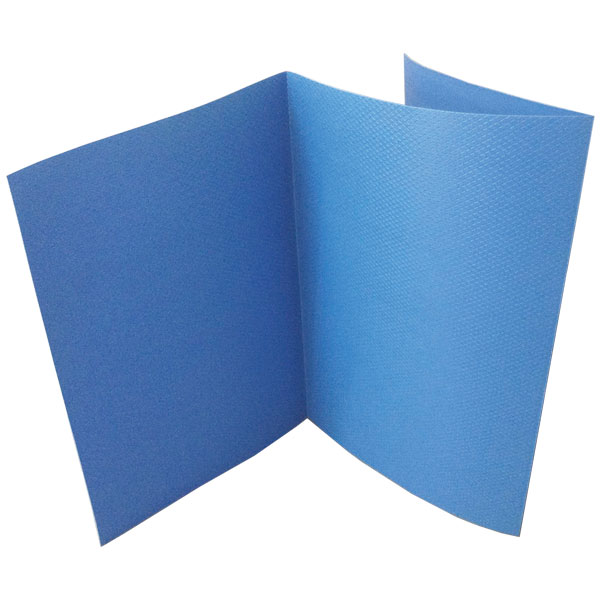 たためるダイヤボード(三つ折りタイプ)厚み1.5mm 10枚セット 寸法:900×1800mm(折畳み時900×610mm)重量:3.5kg 色:ブルー ワニ印の養生敷板。再生プラスチック製・無発泡養生板,樹脂製(日大工業)