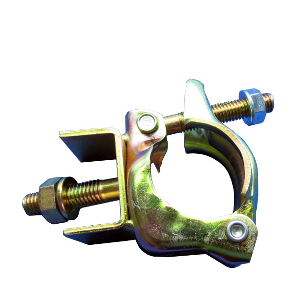 【根元クランプ】40個:伸縮ブラケット(足場部)など取り付け用クランプ。鋼板、H鋼、コンパネ、ベニヤ、単管パイプ、看板、電材部品への取り付けなどにも。ボルト・コ型金物付き単管クランプΦ48.6と42.7兼用(津軽)