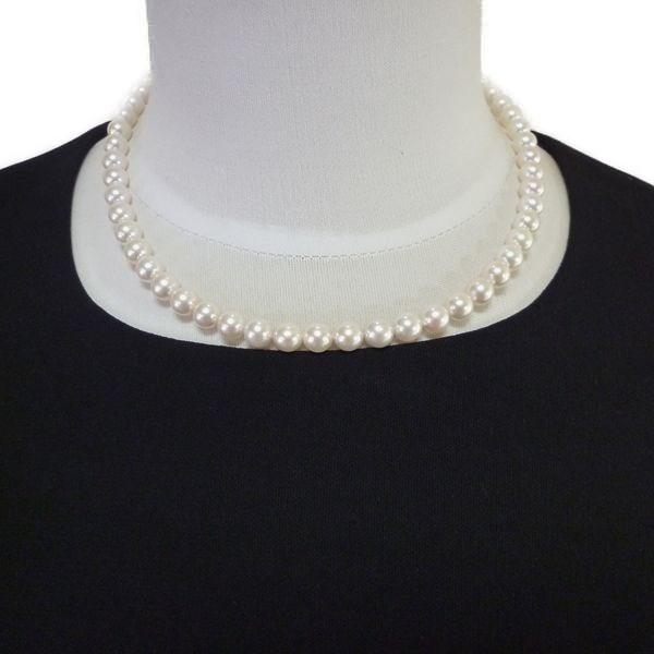 【高品質】冠婚葬祭・フォーマル・アコヤ本真珠 パールネックレス 7.0-7.5mm 42cm