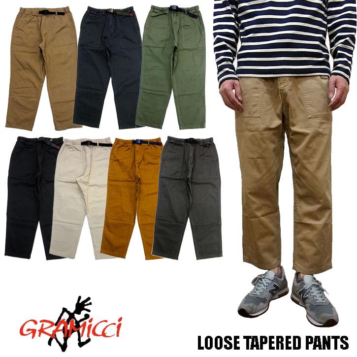 GRAMICCI LOOSE TAPERED PANTS 9001-56J 全6色 グラミチ ルーズテーパードパンツ クロップド クライミング パンツ メンズ