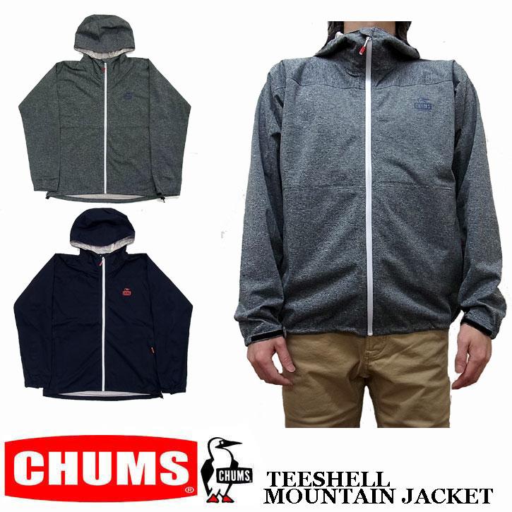 CHUMS TEESHELL MOUNTAIN JACKET 全8色 チャムス ティーシェル マウンテン ジャケット マウンテンパーカー ライトシェル アノラック CH04-1095