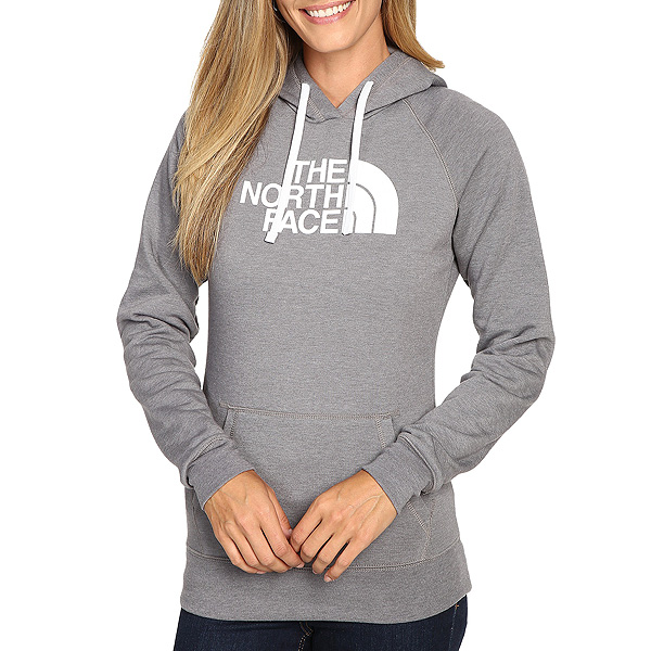 cdbef14bd718 North face Hoodie Womens half dome grey pullover-The North Face Women Half  Dome Hoodie Pullover Tnf Medium Grey Heather  Tnf White 02P05Nov16