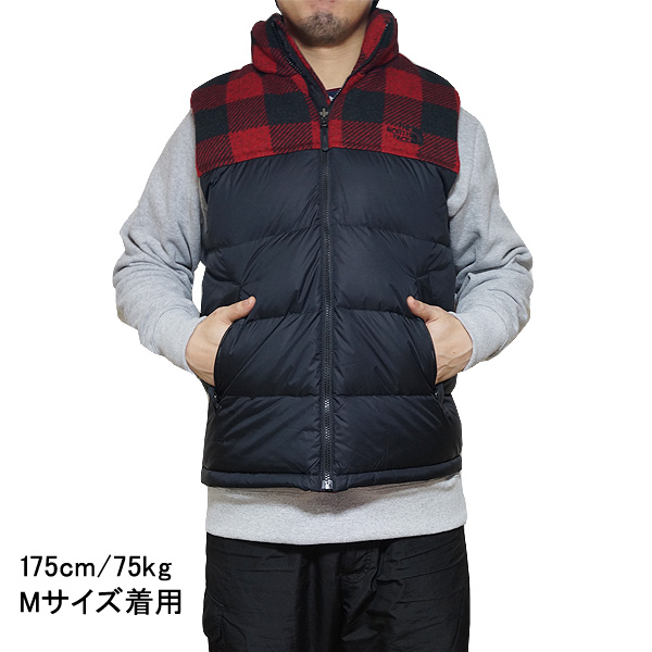 Size The North Face Men s Nuptse Down Vest Tnf Black Cardinal Red Grizzly  Print which ノースフェイスメンズヌプシダウンベスト has a big a18f8c048