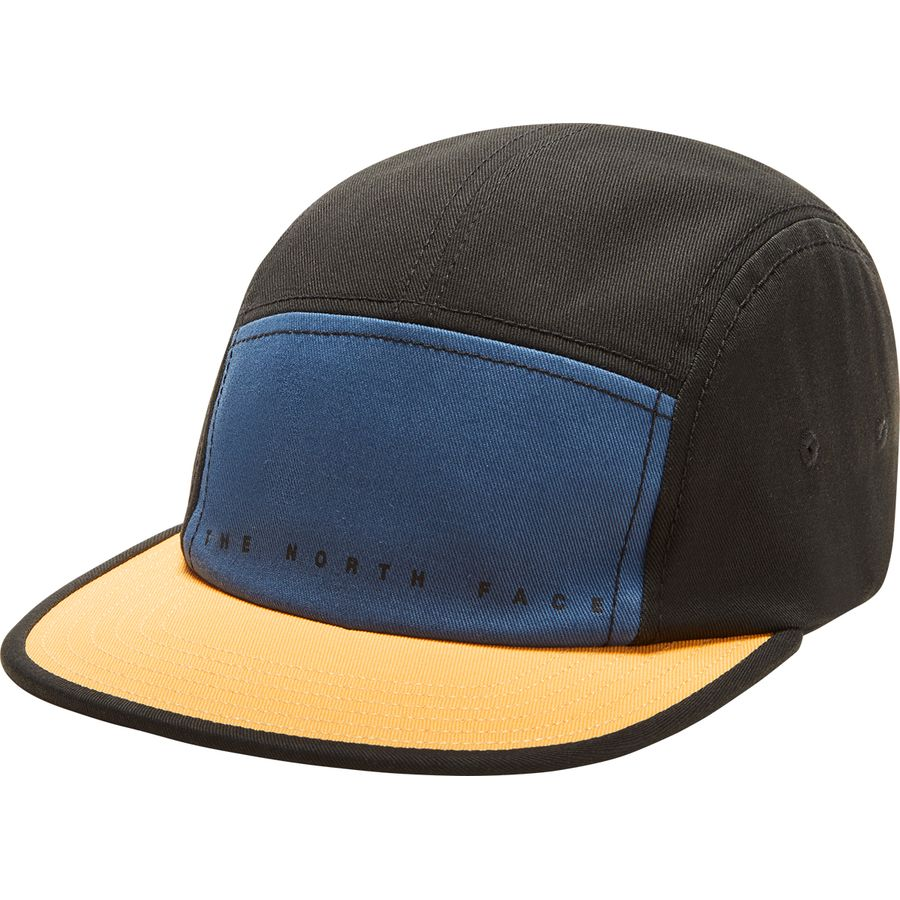 North Face hat five panel ball cap THE NORTH FACE Five Panel Ball Cap Dish  Blue Tnf Black Amber 43c9c91f013