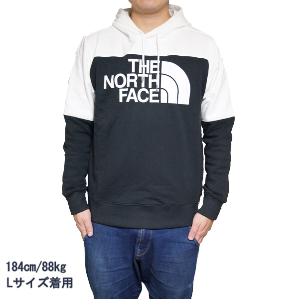ノースフェイス メンズ パーカー ドリュー ピーク プルオーバー スウェットパーカー ホワイト The North Face Men's Drew Peak Hoodie Pullover Tnf Black/Tnf White