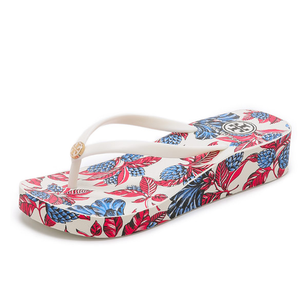 Tory Burch flip flops Tandy wedge flip flop ivory Tory Burch Thandie Wedge  Flip Flops 02P28Sep16 - JETRAG Rakuten Ichiba Shop Rakuten Global Market: Tory Burch